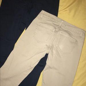 Pants - Blue and kaki pants